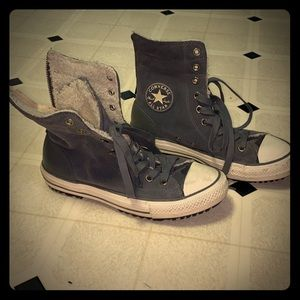 Genuine Suede, Shearling Lined High Top Converse